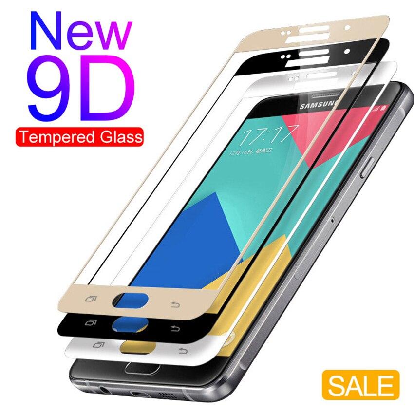 9D verre de protection Anti-éclatement pour samsung Galaxy A3 A5 A7 J3 J5 J7 2016 2017 protecteur d'écran pour samsung s7 verre de couverture complet