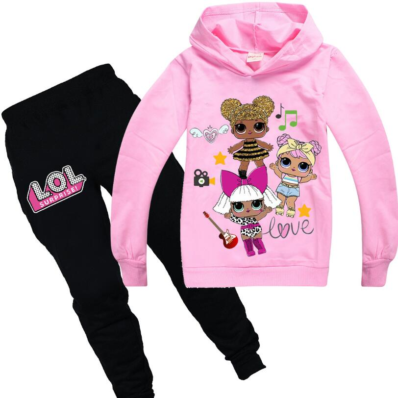 Hot Doll Cartoon Kids Tracksuit Boys Clothes Set Hoodies and Pants Teenage Sportwear Clothing Sport Suit for Girl image