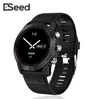 ESEED S10 Smart watch IP68 Waterproof 350mah battery 30 days long standby Heart Rate silica band smart watch men for android ios|Smart Watches| |  -