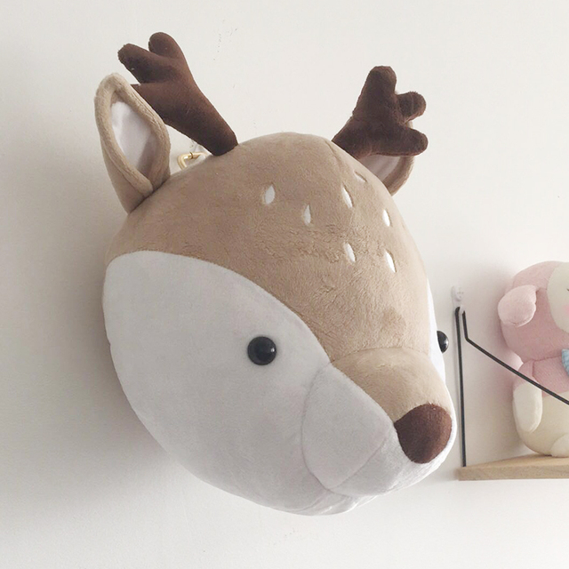 3D Animal Heads Wall Hanging Decor