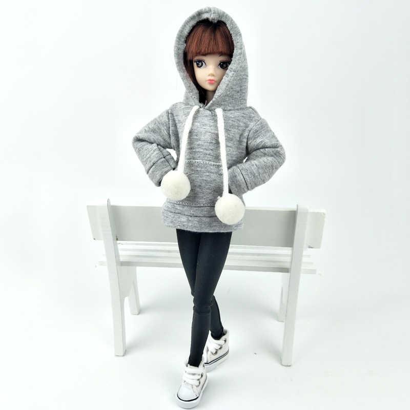 グレーコートバービー人形バービー人形の衣装のためのキャンバスシューズレザーパンツ 1/6 人形アクセサリー子供のおもちゃ