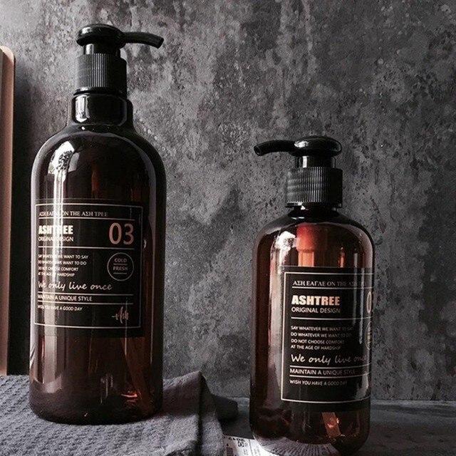 250/500ml Bath Refillable Bottle Hand Sanitizer Bottle Press-type Shampoo Bottle Portable Shower Gel Organize Container 2