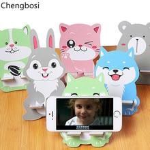 Universal Wood Phone Holder for Huawei Mate 10 Cute Cartoon Fashion Mobile Samsung Galaxy S9 IPhone X XS MAX