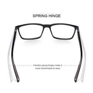 Image 3 - MERRYS tasarım erkekler lüks asetat gözlük çerçevesi miyopi reçete gözlük bahar menteşe silikon tapınak ucu S2518
