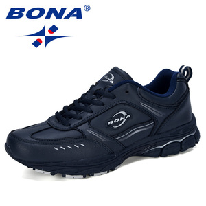 Image 5 - BONA 2019New Designer Running Shoes Men Sports Cow Split Sneakers Male Athletic Footwear Zapatillas Walking Jogging Shoes Trendy