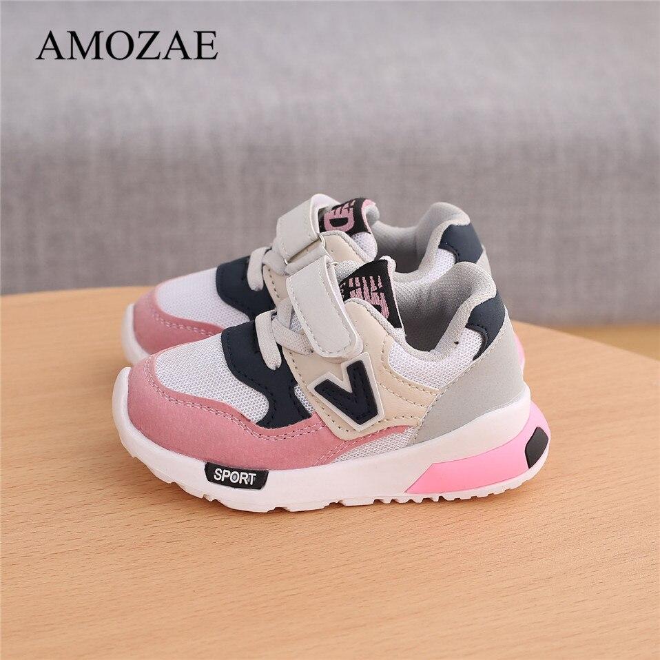 Wiosna jesień dzieci buty dla niemowląt chłopcy dziewczęta dziecięce trampki oddychająca miękka antypoślizgowa buty sportowe do biegania rozmiar 21-30
