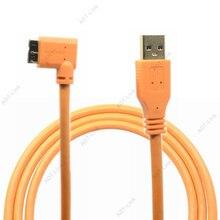 Micro B USB 3.0 Cáp USB Camera Micro B Góc Cạnh Cáp 3 M/5 M/8 M /10 M Cho Máy Canon 5d4 1DX2 5DS 5DSR Nikon D5 D800 D810A/E D850