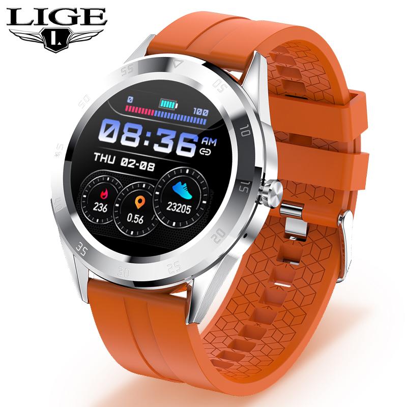 New IP68 Waterproof Smart Watch Men Heart Rate Blood Pressure Answer The Phone Multi-function Sport Full Touch Screen Smartwatch