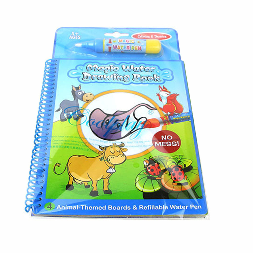 Water Picture Book Water Picture Book With Children Water Painting Board Magic Graffiti Education Color Painting Toys  L0221