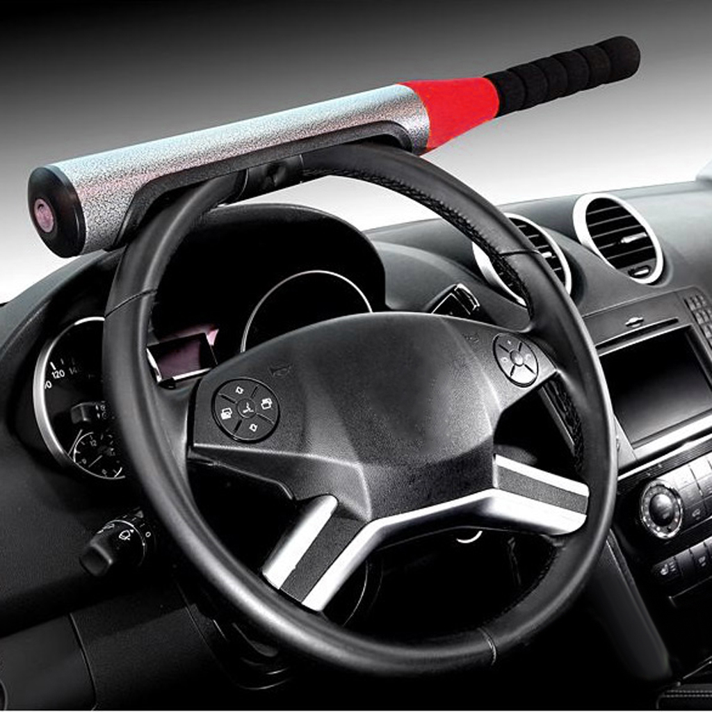Universal Car Vehicle Baseball Bat Steering Wheel Lock Anti-theft 3 Colors Available for Auto Car 610mm Durable