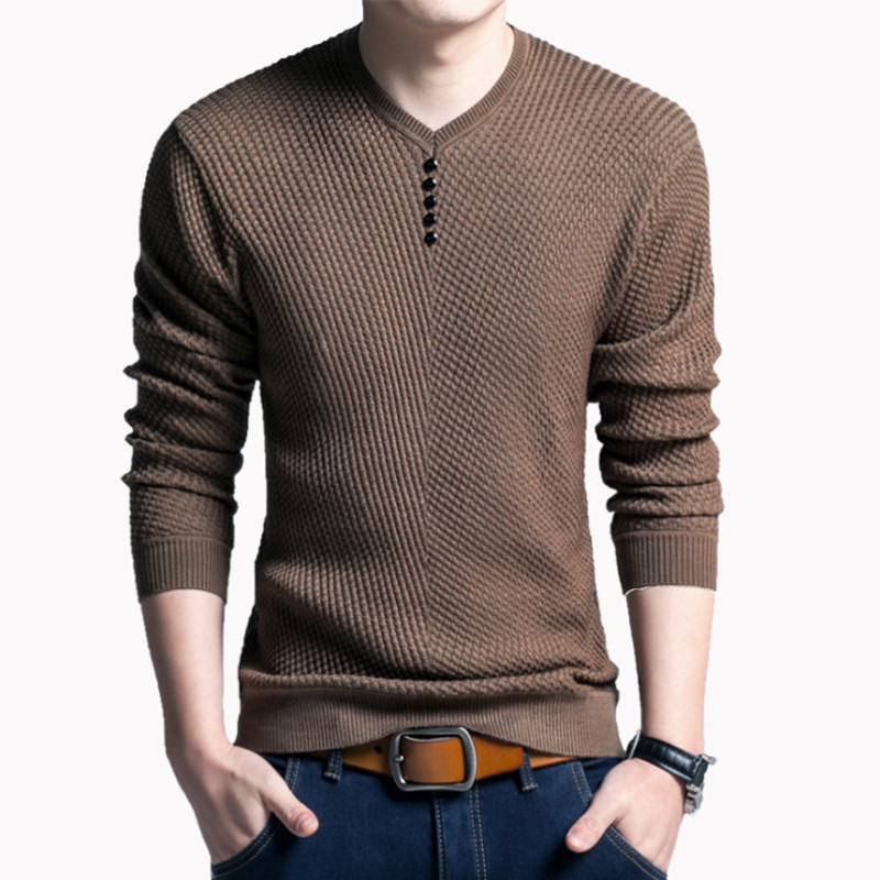 2019 Brand Clothing Fasdhion Men Sweater Men Pullover Knitwear New Arrival Autumn Winter Fashion V-neck Sweater Men Clothes