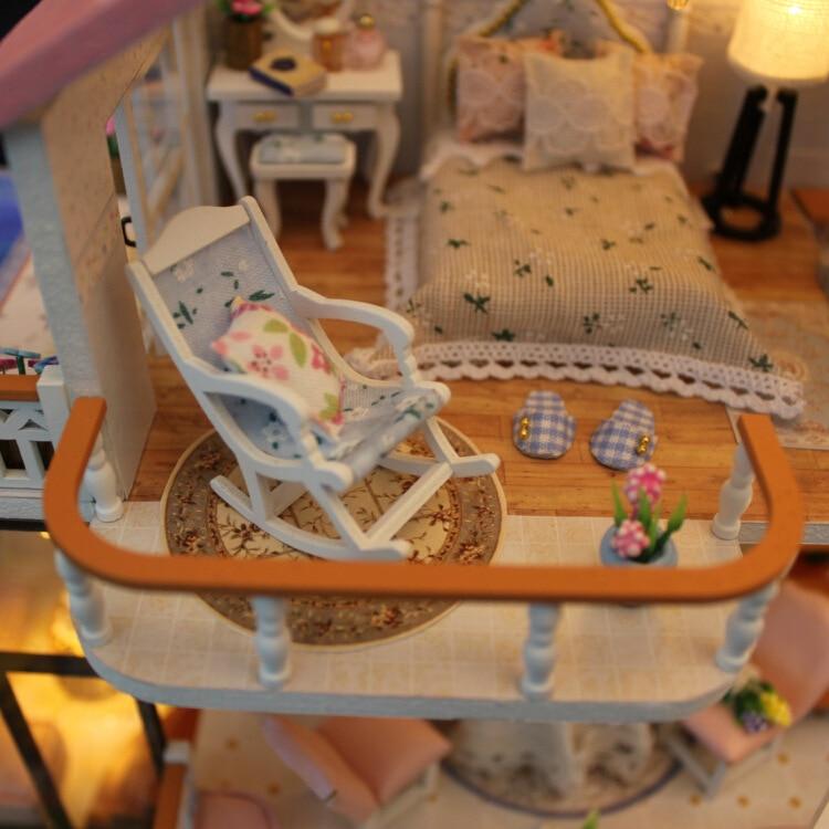 DIY Hütte tian ein mir yu Handgemachten Haus Architektur Modell Montiert Villa Kreative Geschenke Geschenk