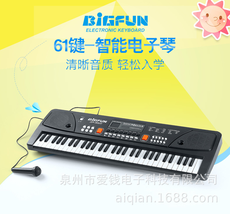 49 Keys Digital Music Electronic Keyboard Electric Piano Children Gift Includes Wired Handheld Microphone  Home Performances D30