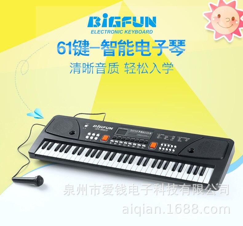 Электронная электронная клавиатура с 49 клавишами для цифровой музыки, Электрический пианино, подарок для детей, проводной ручной микрофон для домашних представлений D30 Электронный орган      АлиЭкспресс