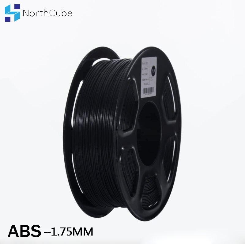 Impressora de filamento 1.75 milímetros ABS filamento 3D 1kg Materiais de Impressão 3D Impressão Filamento de Plástico Preto