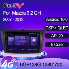 Mekede 7862 qled 1280*720 6gb + 128gb carplay dsp android 10 unidade de cabeça estéreo do carro jogador multimídia gps para mazda 6 2007-2012