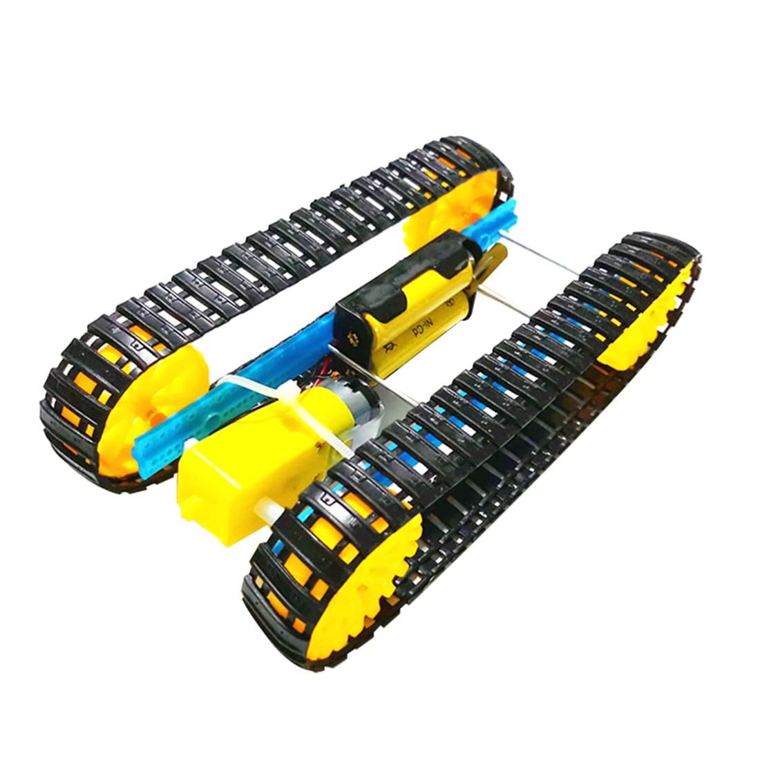 Smart Tank Chassis Handmade Educational Electric Robot Robotic Car Crawler Caterpillar Vehicle DIY Assembled For Children Toy