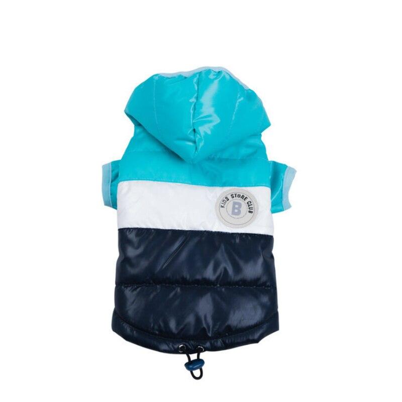 Куртка для маленьких питомцев, зимняя теплая одежда для собак, костюм для щенков, толстовка с капюшоном, светильник, два фута, пальто, лыжный костюм, чихуахуа-3
