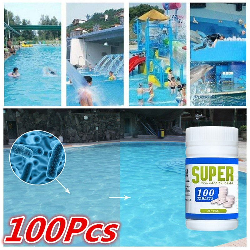 US $0.83 30% OFF|100Pcs Chlorine Dioxide Tablets Cage Disinfectant Swimming  Pool Clarifier Effervescent Tablets Multifunctional Cleaner-in Cleaning ...