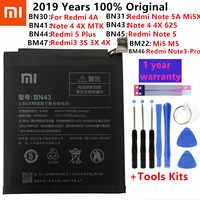 Original Xiao mi Bateria de Substituição Para Xiao mi mi Vermelho 3 3S 3X 4X 4A 5A 3 pro 5 Plus Nota 3 4 4X 5 5A 6 7 Pro mi mi 5 8 5X Bateria