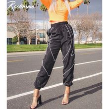 Rockmore Reflective Stripe Joggers Women Plus Size Panelled Pencil Pants Harajuk