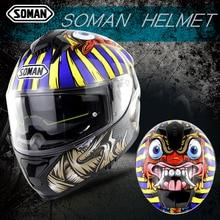 Full Face Helmet Pharaoh Printed Cascos Uv Cut Motorcycle Helmet Shark Casco Moto Casco Patinete Capacete De Motocicleta Ece Dot стоимость
