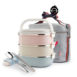 Leakproof Thermos Lunch Box Portable Stainless Steel Thermal Lunch Box for Office Lunchbox Food Container for Kitchen