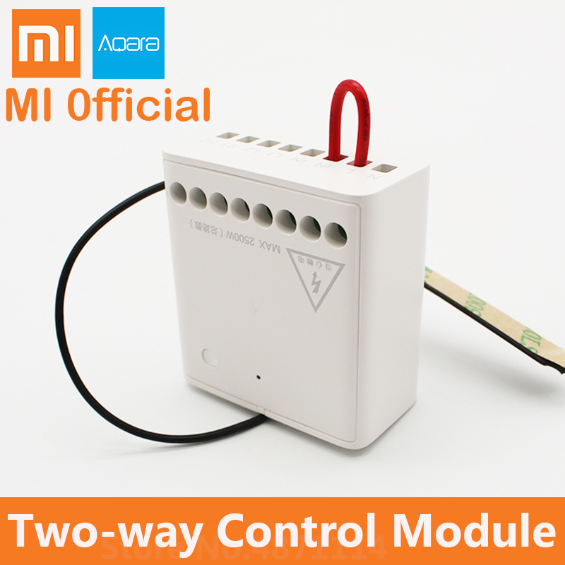 Xiaomi Control-Module Aqara-Relay Two-Way Wireless 2-Channels Support-Mijia-App