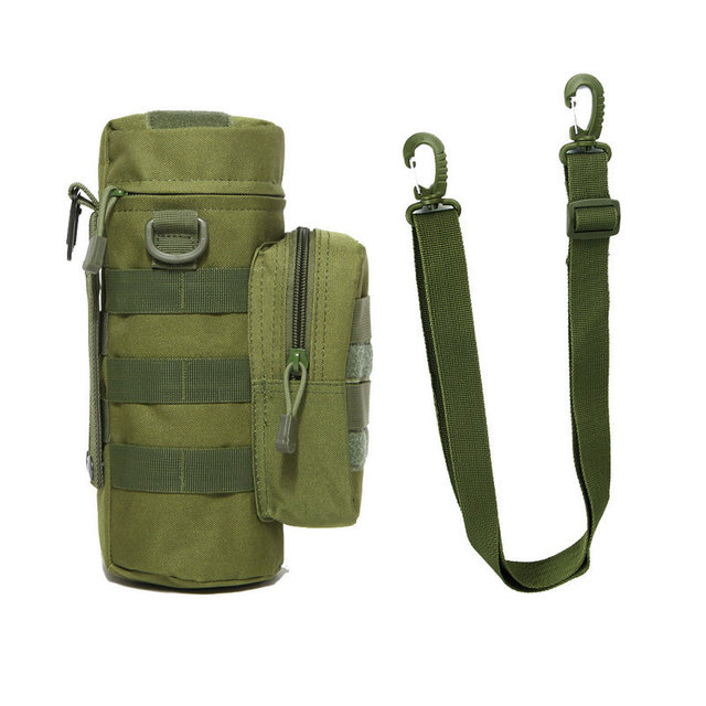 Military Kettle Bag for Molle Tactical Backpack Army Water Bottle Bag Pouch Outdoor Hunting Hiking Waist Kettle Pouch Waist Bag 1