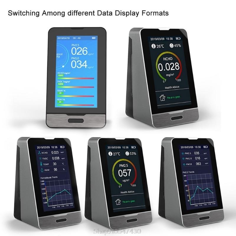 Dashing Dm72b-wifi 4.3 Inch Led Display Intelligent Co2 Hcho Tovc Gas Detector Pm2.5 Pm1.0 Pm10 Temperature Humidity Meter O29 Dropship