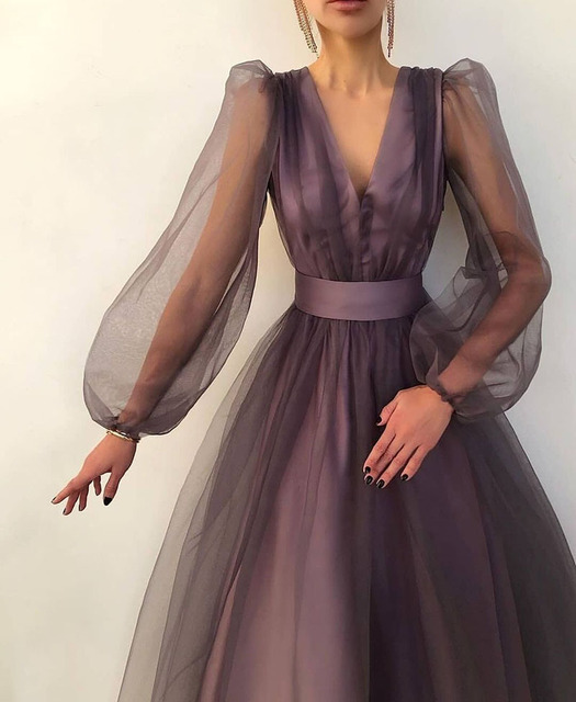 SoDigne A line Evening Dress Short 2021 Simple Evening Gown Long Sleeves Robe De Soiree Formal Party Dresses Custom made 3