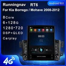 """9.7 """"Android 10.1 Voor Kia Borrego / Mohave 2008 2012 Tesla Type Auto Radio Multimedia Video Player Navigatie gps Rds Geen Dvd"""