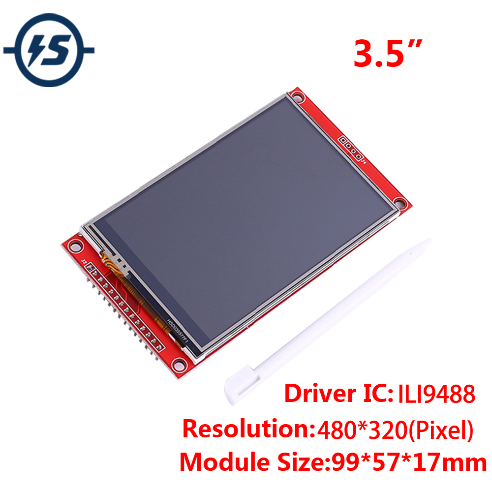 3.5 Inch SPI 480x320 RGB TFT Touch LCD Display Module ILI9488 Driver <font><b>480</b></font>*<font><b>320</b></font> 3.3V/5V IPS LCD with SD Card Socket image