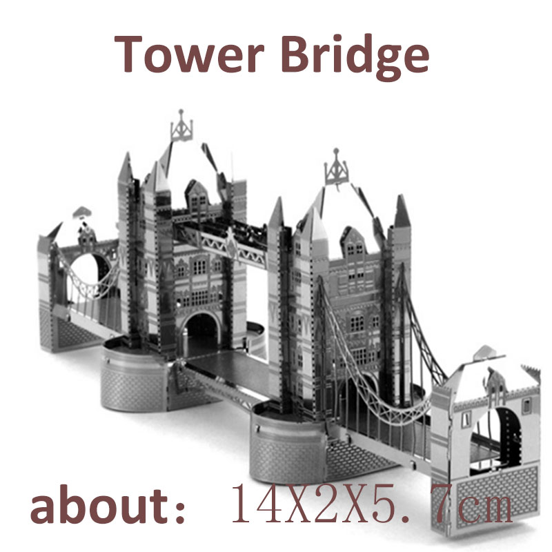 DIY Assembled Metal Model 3D Metal Puzzle Swan Castle Eiffel Tower Bridge Big Ben Sydney Opera House F Children's Gift