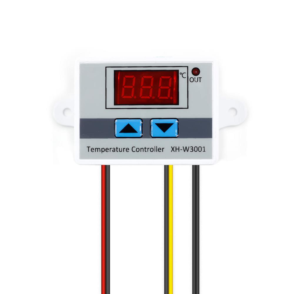 10A 12V 24V 220VAC Digital LED Temperature Controller <font><b>XH</b></font>-<font><b>W3001</b></font> for Arduino Cooling Heating Switch Thermostat NTC Sensor image