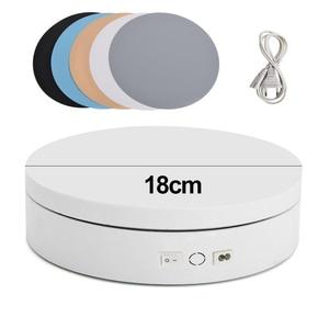 Image 4 - 360 תואר מסתובב חשמלי צילום מסתובב פטיפון תצוגת Stand עבור תכשיטי מוצר תצוגת 3D סריקה פאן עם PVC