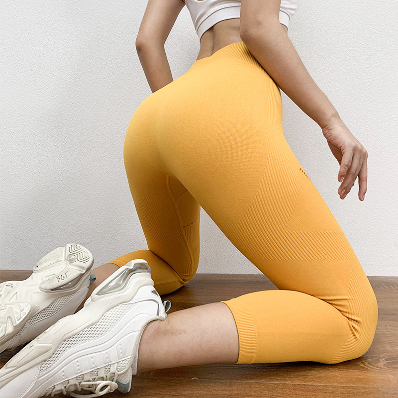 Women Yoga Capri Pants Tight High Waist Push Up Leggings Quick Dry Workout Pants Gym Fitness Running Capri Yoga Tight Leggings