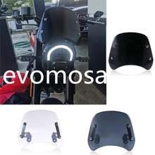 Мотоциклетная черная/Дымчатая/прозрачная передняя фара лобовое