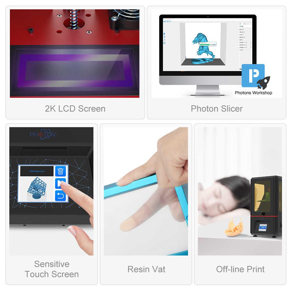 ANYCUBIC Фотон 3d Принтер Комплект 405nm Смола SLA плюс размер FEP пленки 2,8-дюймовый цветной TFT экран 3d принтер DIY Набор impresora 3d
