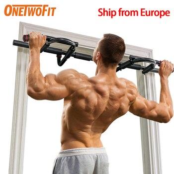цена OneTwoFit Horizontal Bar Pull Up Bar Door Frame Chin Up Bar Station Heavy Doorway Fitness Equipment for Home Gym Deporte en Casa онлайн в 2017 году