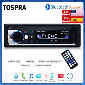 TOSPRA Car Multimedia Player Bluetooth Autoradio MP3 Music Player Car Stereo Radio FM Aux Input Receiver USB 12V In-dash 1 din(China)