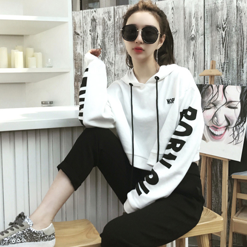WOMEN'S Dress 2019 Autumn & Winter New Style Korean-style Casual Sports Hoodie + Trousers Two-Piece Set WOMEN'S Suit