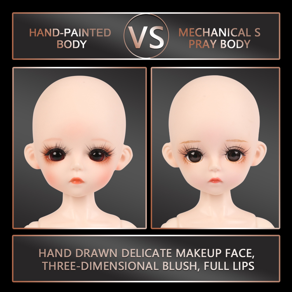 30CM Nude Body BJD Doll 1/3 BJD 25 Parts Can Be Removed Ball Jointed Body Without Outfits Girls Dress Up Makeup Dolls