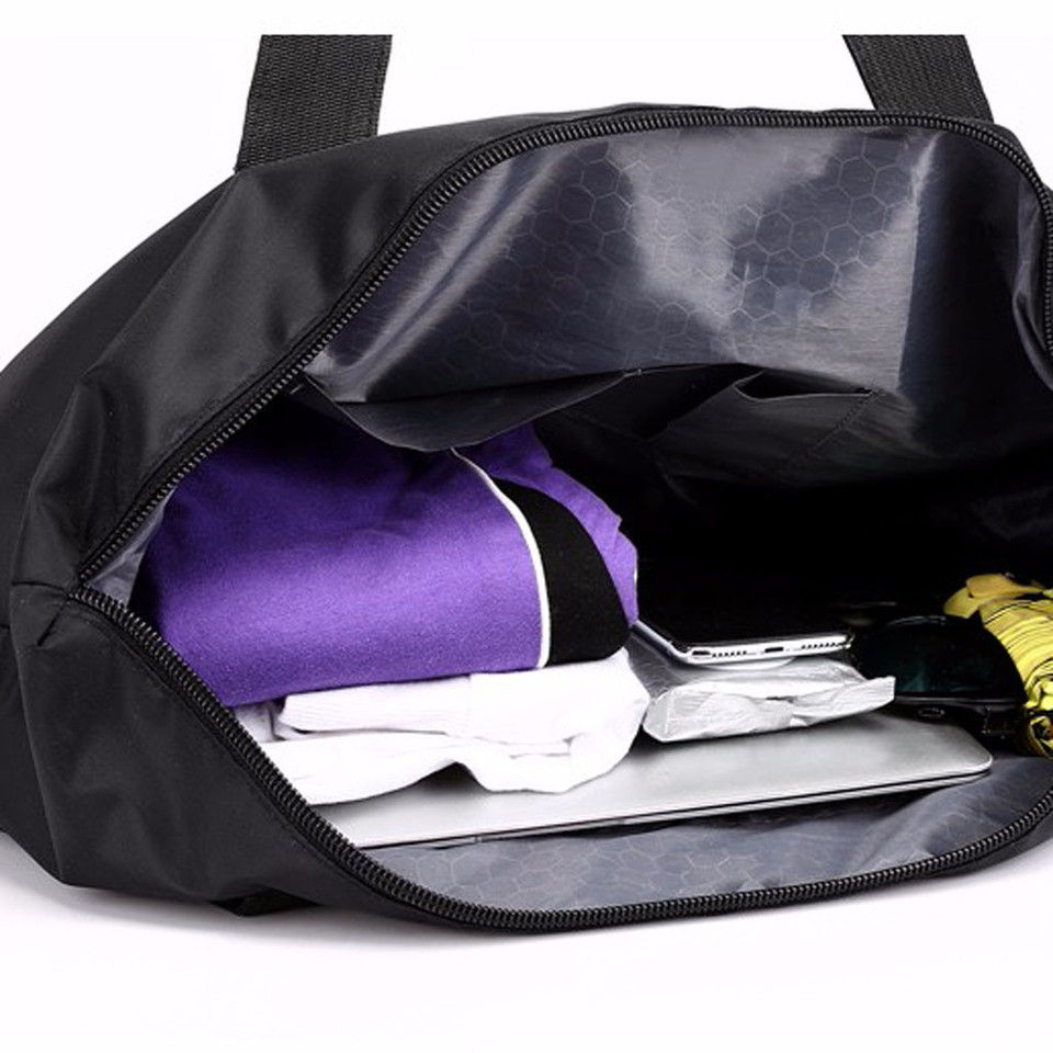 Canvas Travel Bag Travel Bag Travel Handbag Travel Bag Portable Large Capacity Light Travel Nylon Travel Bag Shoulder Bag Purple