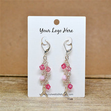 Custom Earring Cards with Your Logo Jewelry Display Cards - Product Display