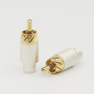 Image 4 - 4PCS Audio signal cable lotus plug rca plug socket  rca head audio cable plug