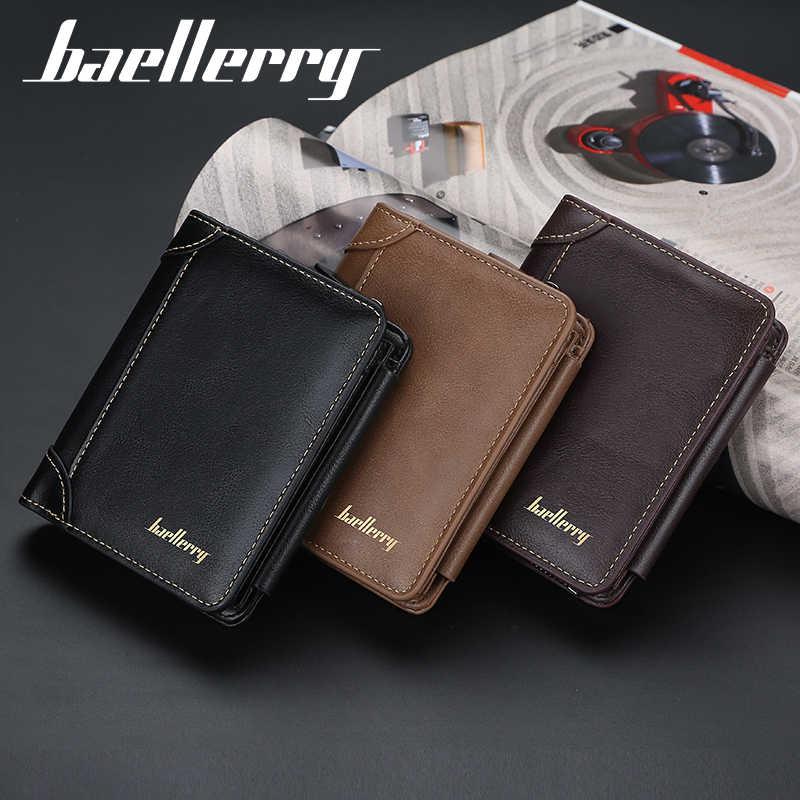 Kwaliteitsgarantie Mannen Korte Portemonnee Bifold Card Houders Voor Mannen Casual Draagbare Portemonnee Newleather Mannelijke Cash Clutch Bag