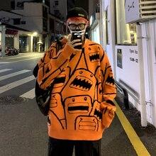 Men Pullovers Sweater Autumn Winter Male Japan Korea Streetwear Youth Fashion Casual Hip Hop Couple Knitting Sweater