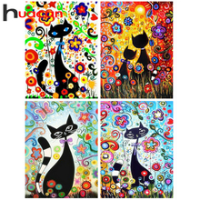 5D DIY Diamond Embroidery Cartoon Cat Mosaic Bedroom Cute Animals Point Paste Painting Cross Stitch