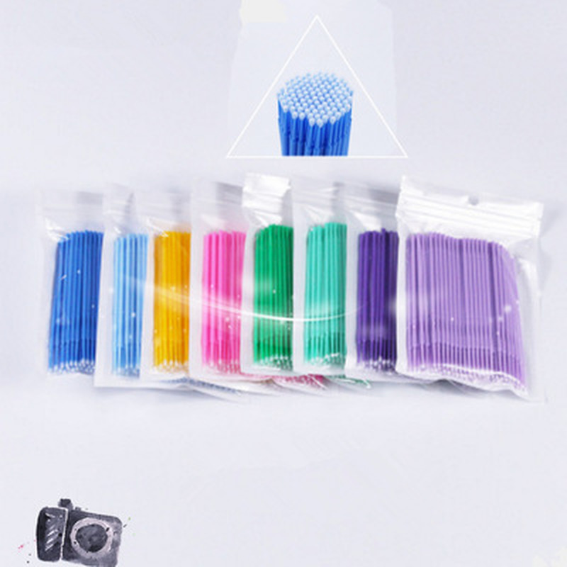 100pcs / Bag Disposable Eyelash Extension Individual Micro Brush Applicators Mascara Wands For Eyelash Extension Tools
